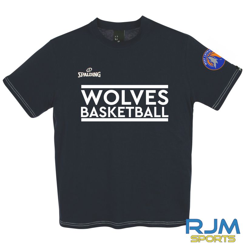 WLW Special Edition Wolves Basketball Spalding Team II T-Shirt Navy