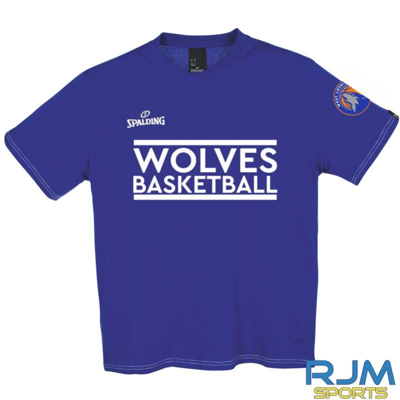 WLW Special Edition Wolves Basketball Spalding Team II T-Shirt Royal