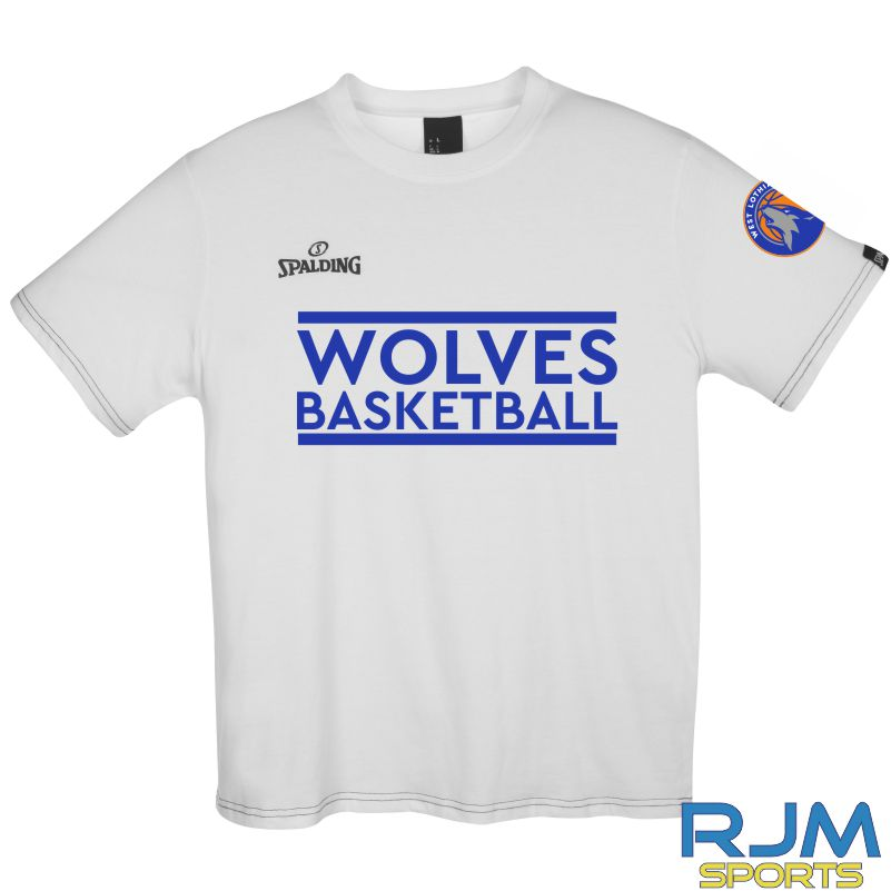 WLW Special Edition Wolves Basketball Spalding Team II T-Shirt White