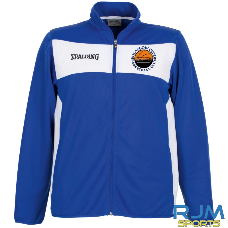 Glasgow City Basketball Spalding Evolution II Classic Jacket Royal White