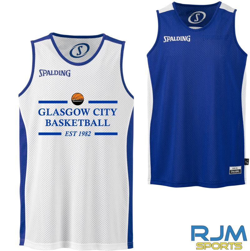 Glasgow City Basketball Spalding Essential Reversible Shirt Royal White
