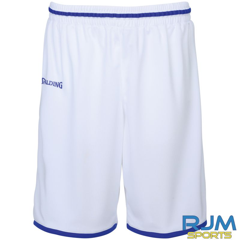 Glasgow City Basketball Home Spalding Move Shorts White Royal
