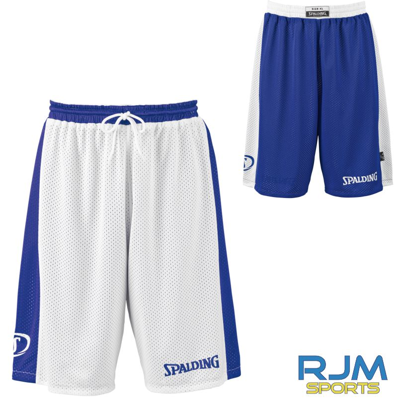 Glasgow City Basketball Spalding Essential Reversible Shorts Royal White