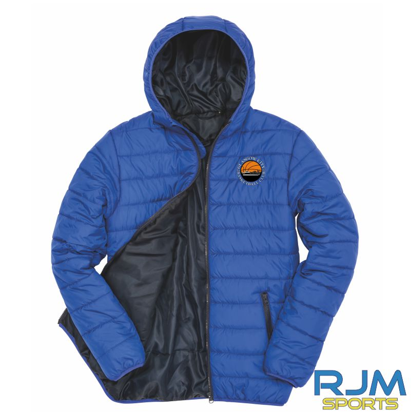 Glasgow City Basketball Result Core Soft Padded Jacket Royal Blue Navy