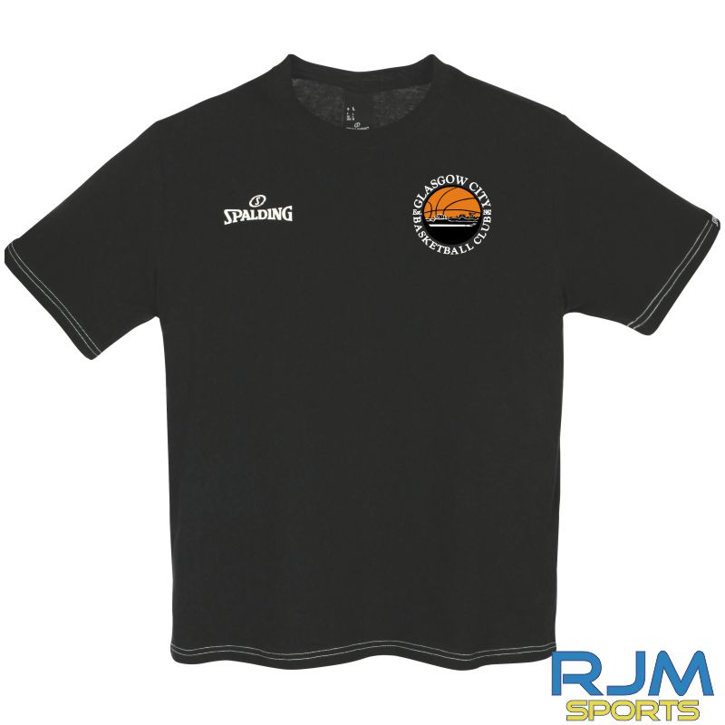 Glasgow City Basketball Spalding Team II T-Shirt Black