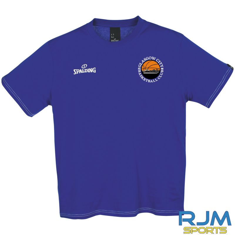 Glasgow City Basketball Spalding Team II T-Shirt Royal