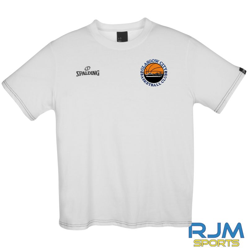 Glasgow City Basketball Spalding Team II T-Shirt White
