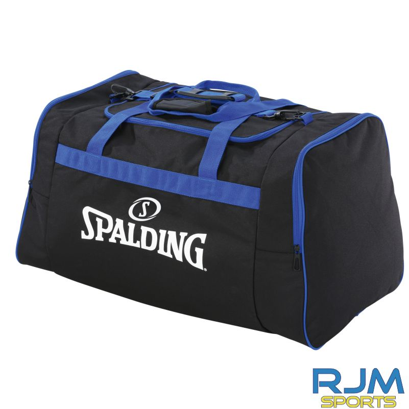 Glasgow City Basketball Spalding Team Bag Various Sizes Black Royal