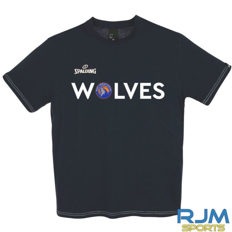 WLW Special Edition WOLVES Spalding Team II T-Shirt Navy