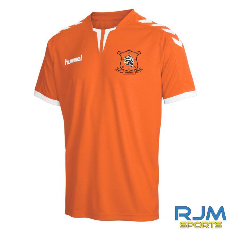 Syngenta Juveniles Hummel Core Poly Home Short Sleeve Jersey Tangerine •  RJM Sports d9440f52744e