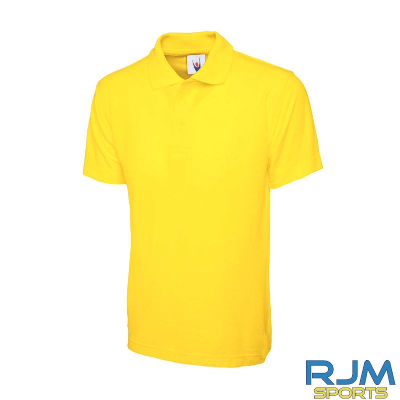 Nethermains Primary School Uneek Nursery Polo Shirt Yellow