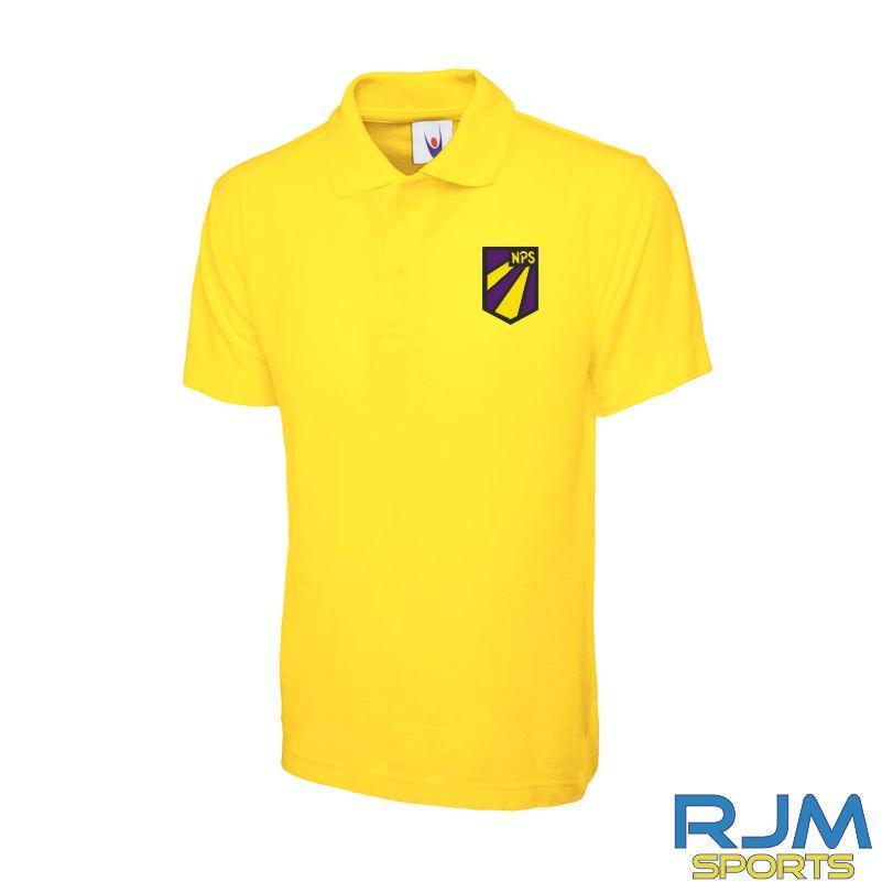 Nethermains Primary School Uneek Polo Shirt Yellow