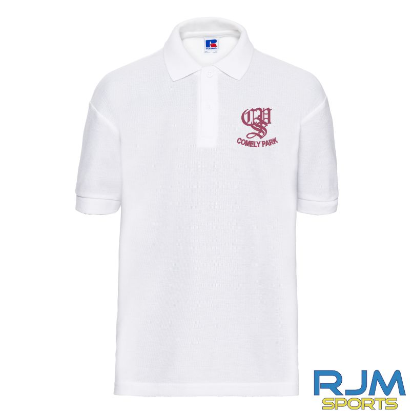 Comely Park Primary School Russel Kids Polo Shirt White