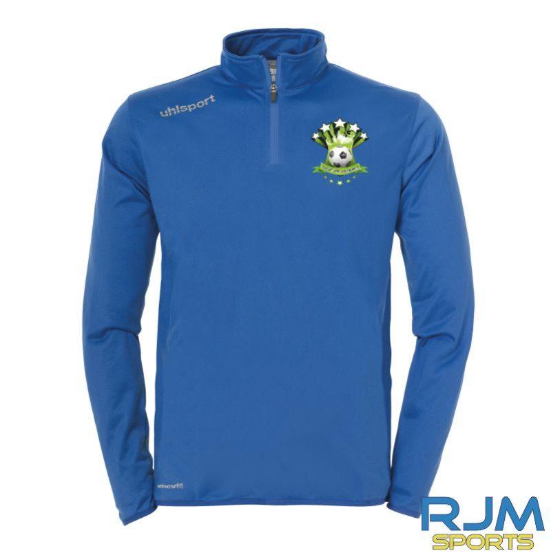 Soccer Stars Academy Uhlsport Essential 1/4 Zip Top Azure Blue White