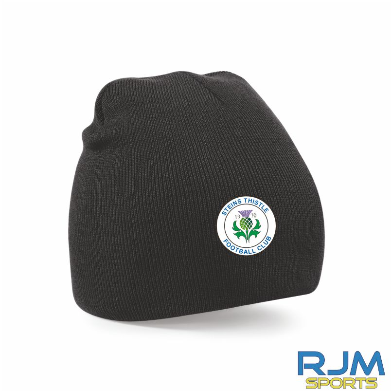Steins Thistle Beanie Hat Black