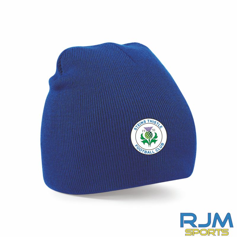 Steins Thistle Beanie Hat Bright Royal