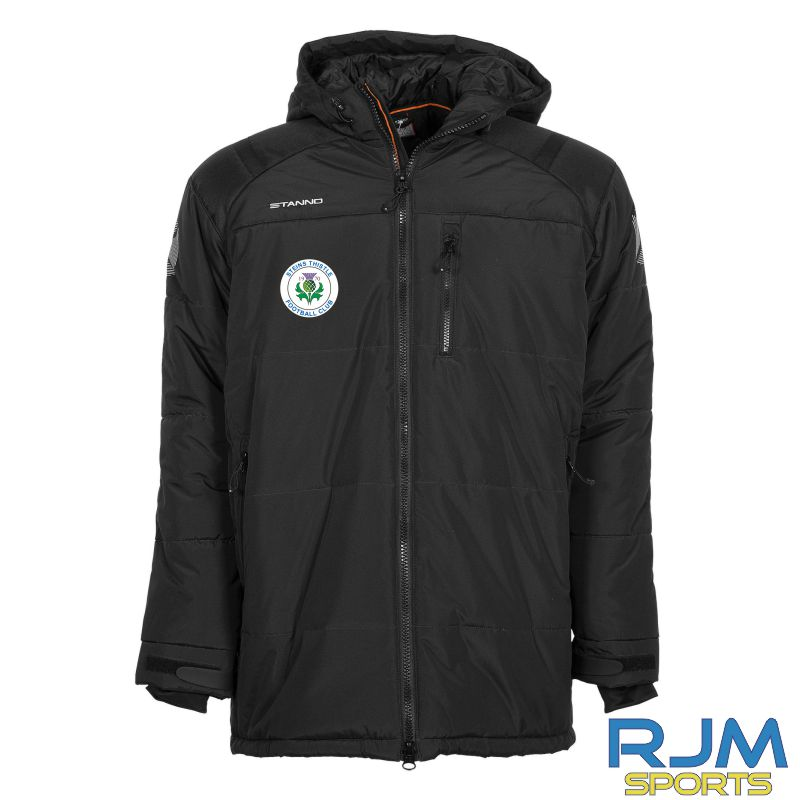 Steins Thistle Stanno Centro Padded Coach Jacket Black