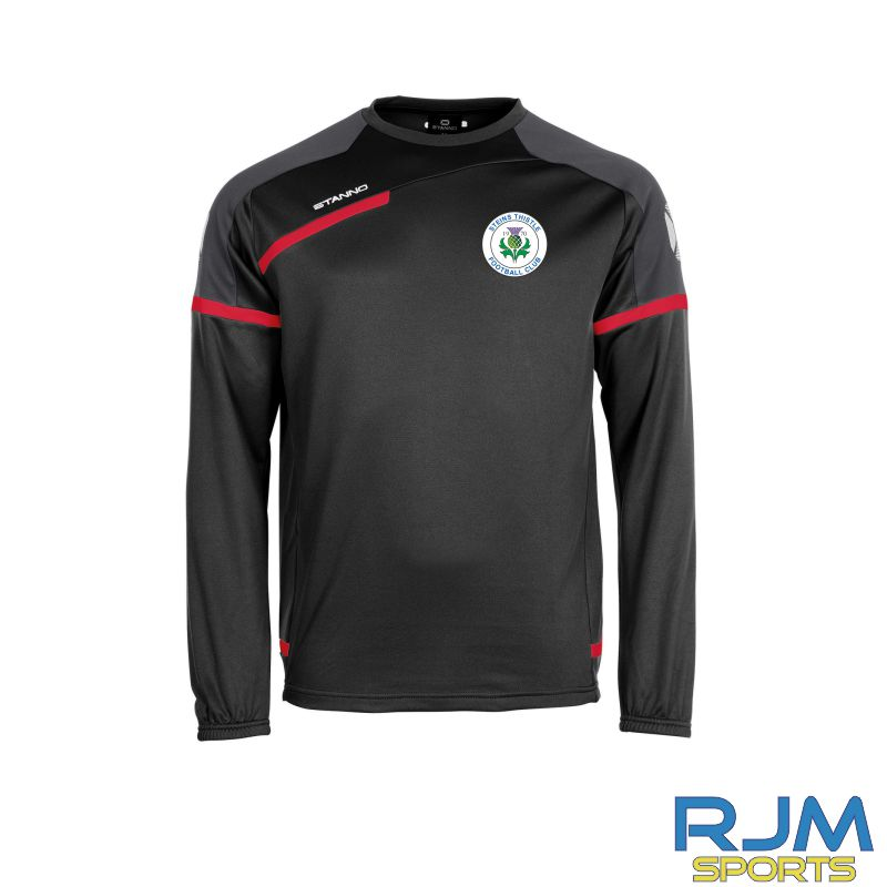 Steins Thistle Stanno Prestige Coaches Training Top Round Neck Black Red White