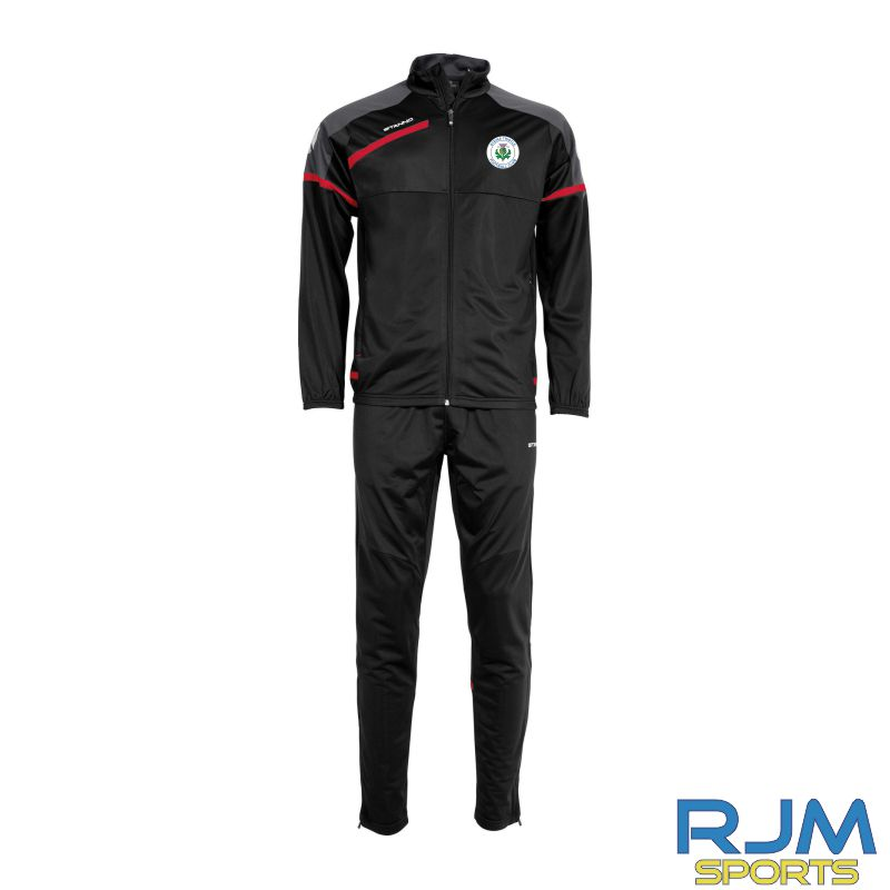 Steins Thistle Stanno Prestige Coaches Matchday Polyester Suit Black Red White