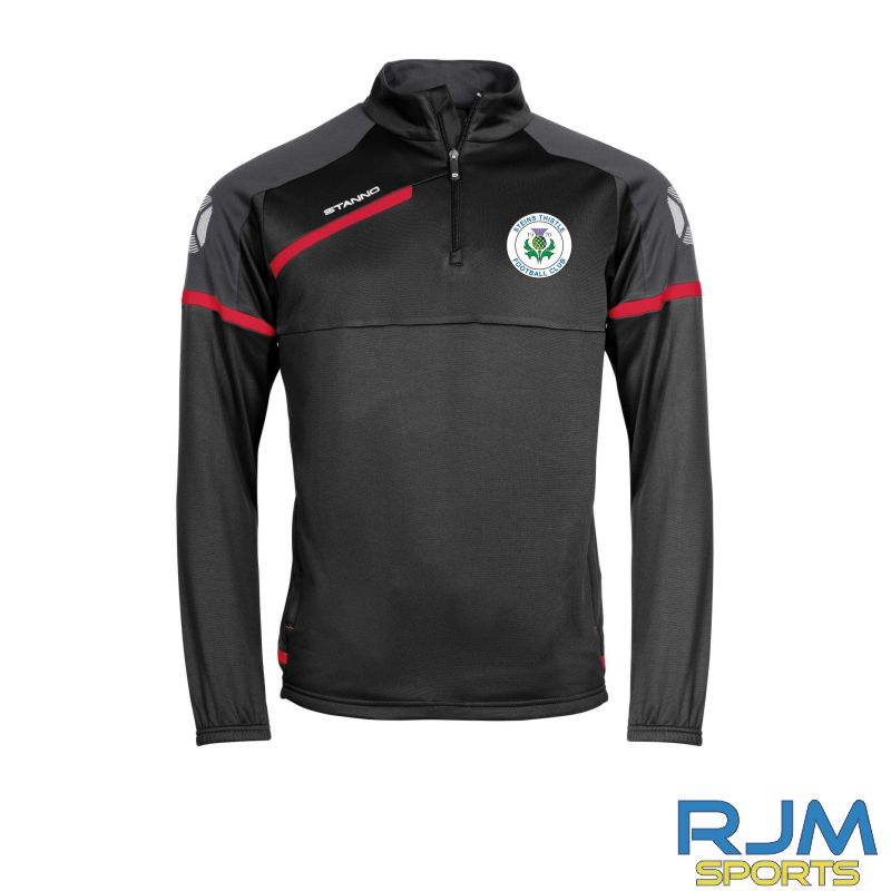 Steins Thistle Stanno Prestige Coaches Training Quarter Zip Black Red White