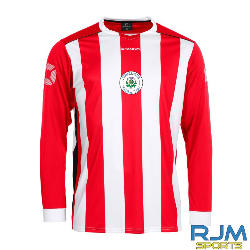 Steins Thistle Stanno Brighton Away Long Sleeve Shirt Red White