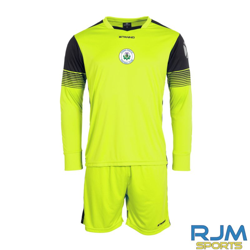 Steins Thistle Stanno Nitro Home Goalkeeper Set Neon Yellow Black