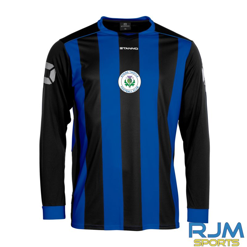 Steins Thistle Stanno Brighton Home Long Sleeve Shirt Royal Black