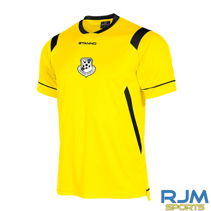 Bonnybridge Youths FC Away Stanno Arezzo Shirt Short Sleeve Yellow Black