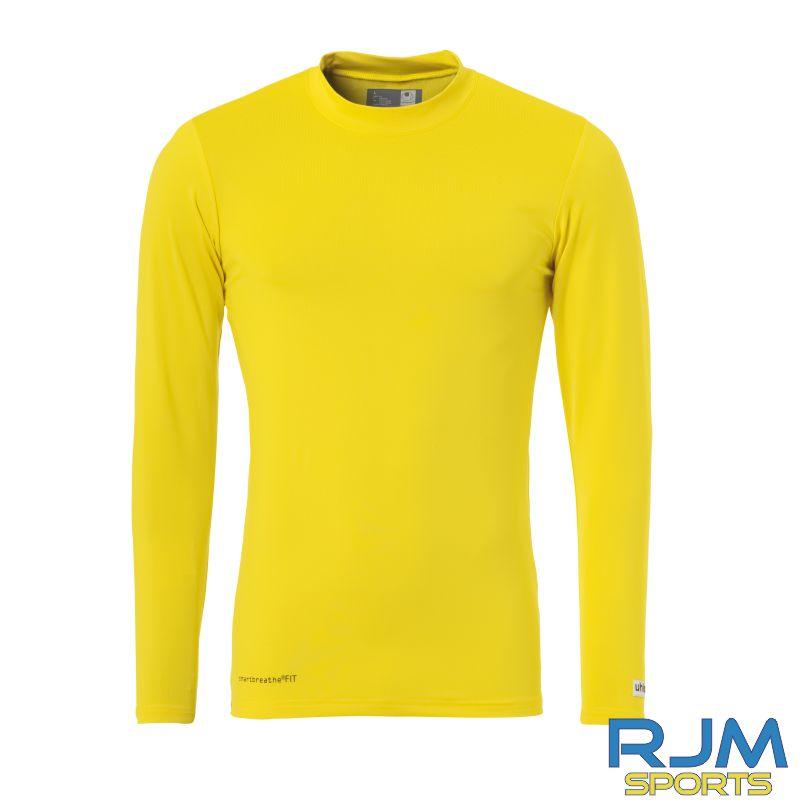 Cumbernauld Colts Uhlsport Distinction Colors Baselayer Lime Yellow