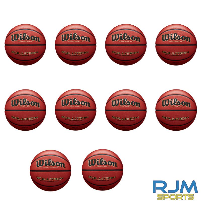Basketball England Wilson Solution 10 Ball Deal