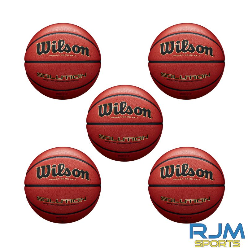 Basketball England Wilson Solution 5 Ball Deal