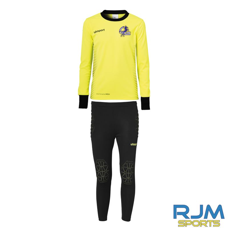 Cumbernauld Colts Uhlsport Score Goalkeeper Set Junior Fluo Yellow Black