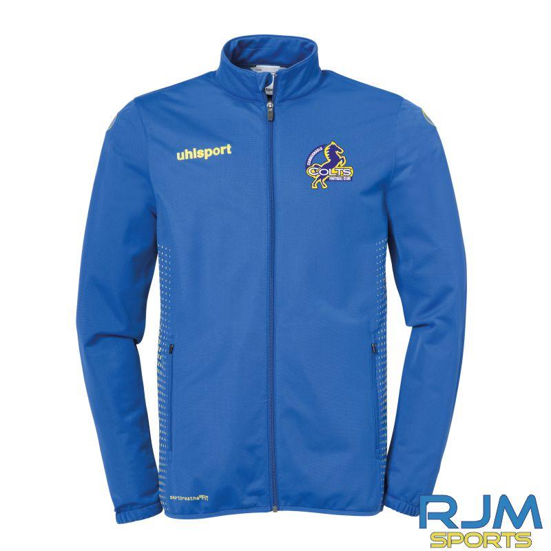 Cumbernauld Colts Uhlsport Score Classic Jacket Azure Blue Lime Yellow