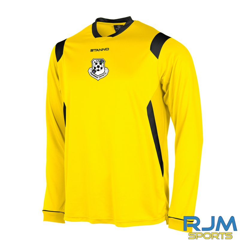 Bonnybridge Youths FC Away Stanno Arezzo Shirt Long Sleeve Yellow Black