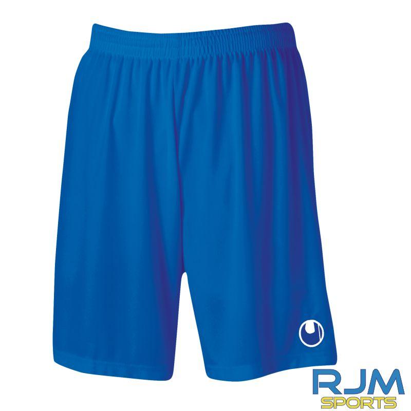 Cumbernauld Colts Training Uhlsport Centre Basic Shorts Azure Blue White