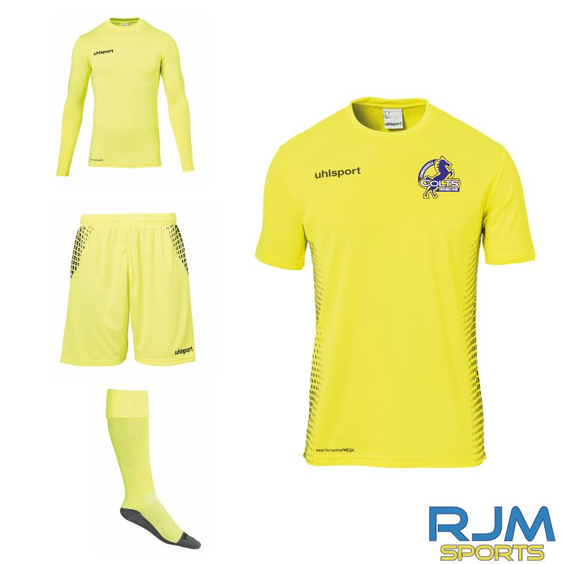 Cumbernauld Colts Uhlsport Score Goalkeeper Set Fluo Yellow Black