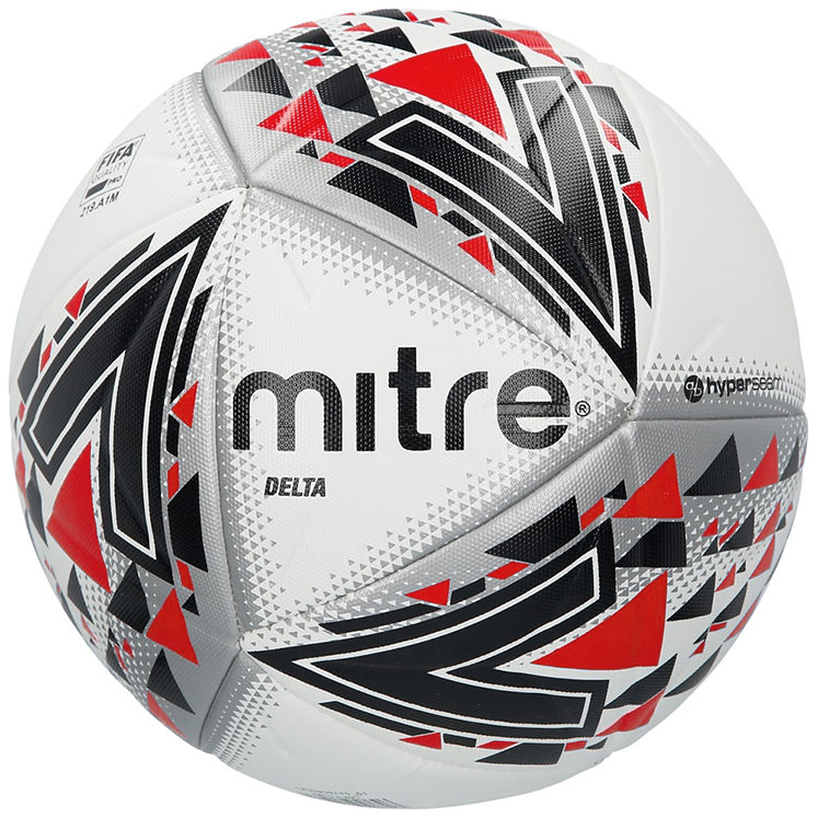 Mitre Delta White Black Red 5 Football Deal Size 5