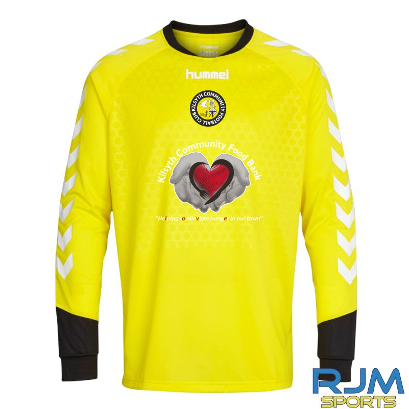 Kilsyth Community Hummel Home Essential GK LS Jersey Blazing Yellow