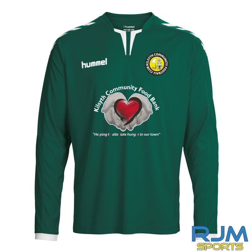 Kilsyth Community HummelHome Core Poly LS Jersey Evergreen/White
