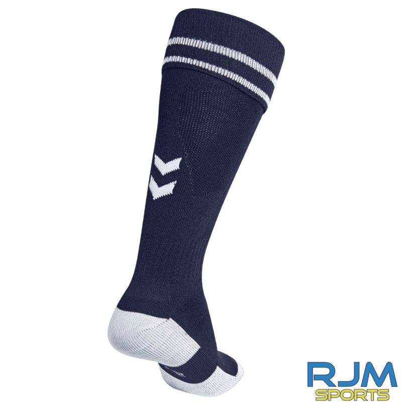 Kilsyth Community Hummel Away Element Football Socks Marine/White