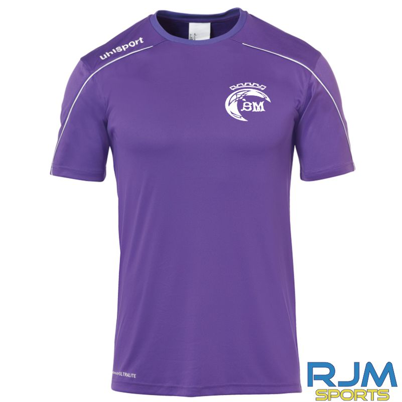 Scott Murray School of Irish Dancing Uhlsport Stream 22 Shirt Purple/White