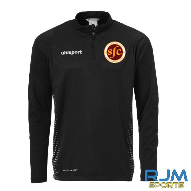 Stenhousemuir FC Uhlsport Score 1/4 Zip Black/White