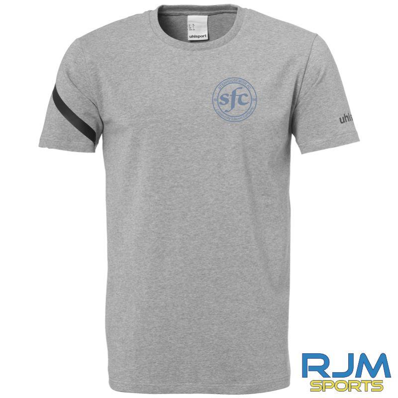 Stenhousemuir FC Uhlsport Essential Pro Shirt Dark Grey Melange