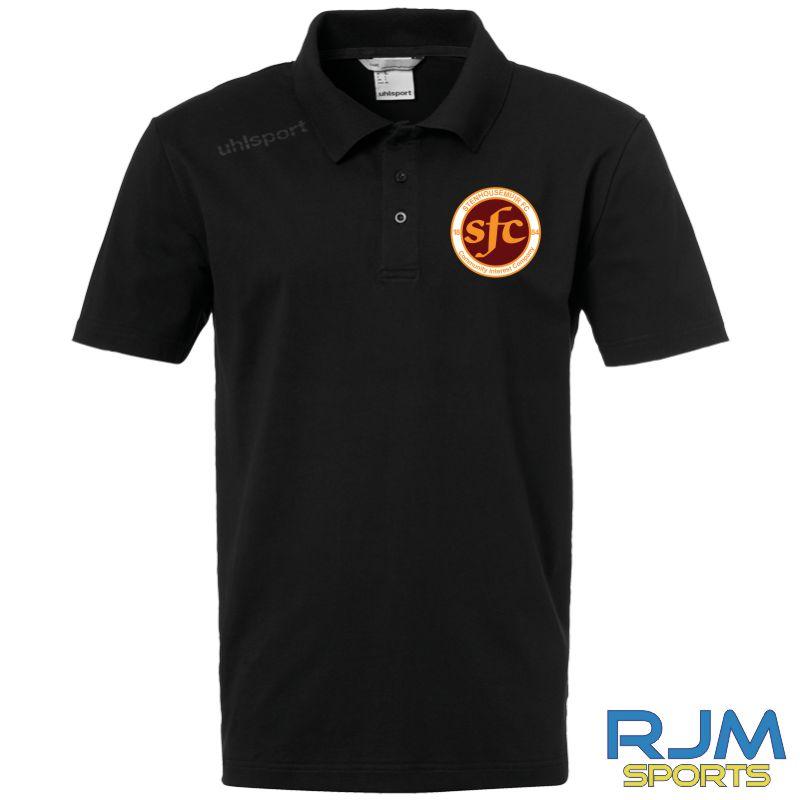 Stenhousemuir FC Uhlsport Essential Polo Shirt Black