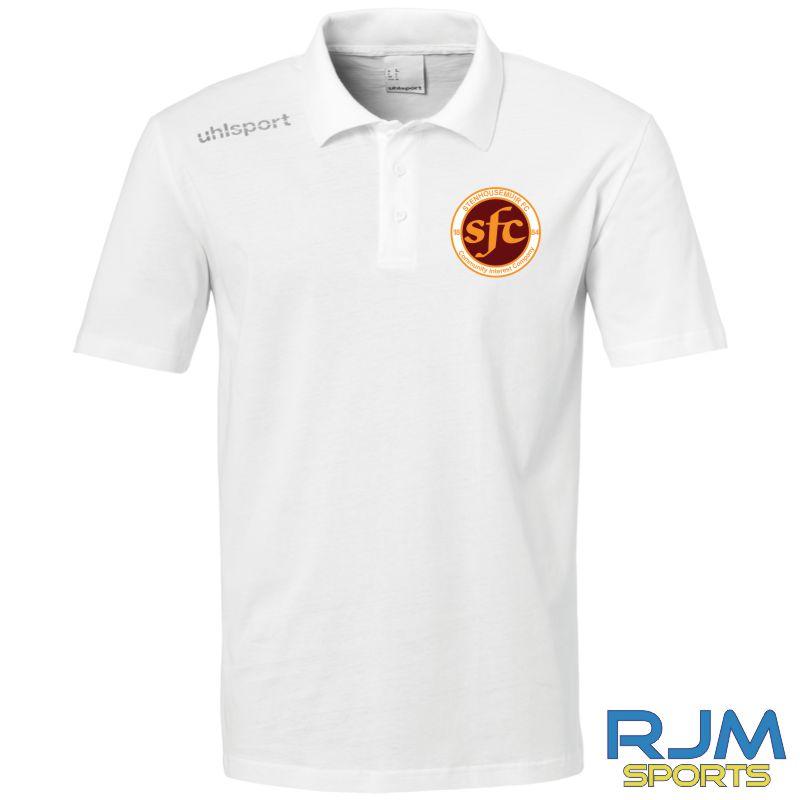 Stenhousemuir FC Uhlsport Essential Polo Shirt White