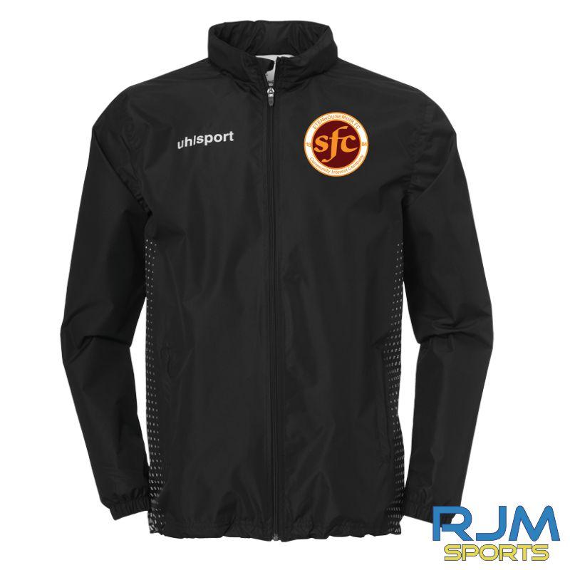 Stenhousemuir FC Uhlsport Score All Weather Jacket Black/White