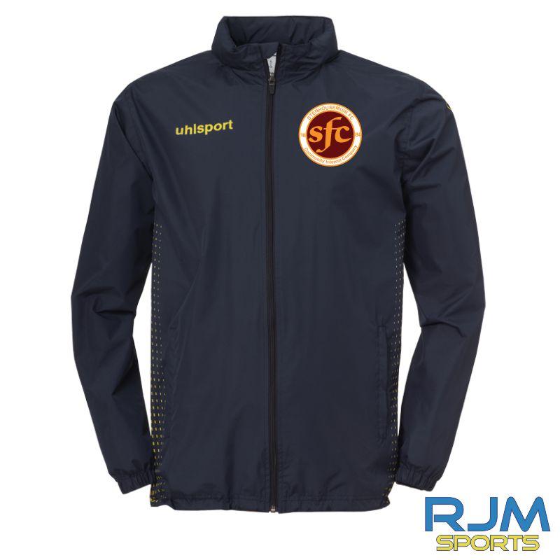 Stenhousemuir FC Uhlsport Score All Weather Jacket Navy/Fluo Yellow