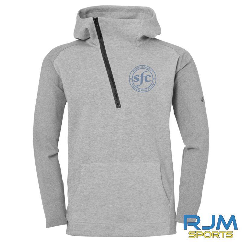 Stenhousemuir FC Uhlsport Essential Pro Zip Hoodie Dark Grey Melange