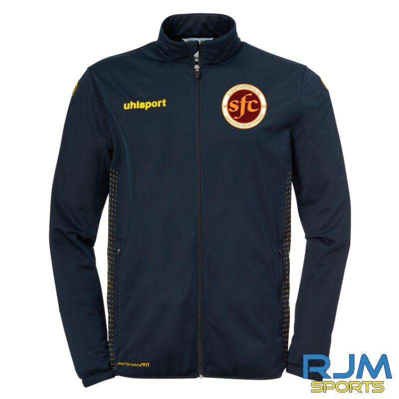 Stenhousemuir FC Uhlsport Score Classic Jacket Navy/Fluo Yellow