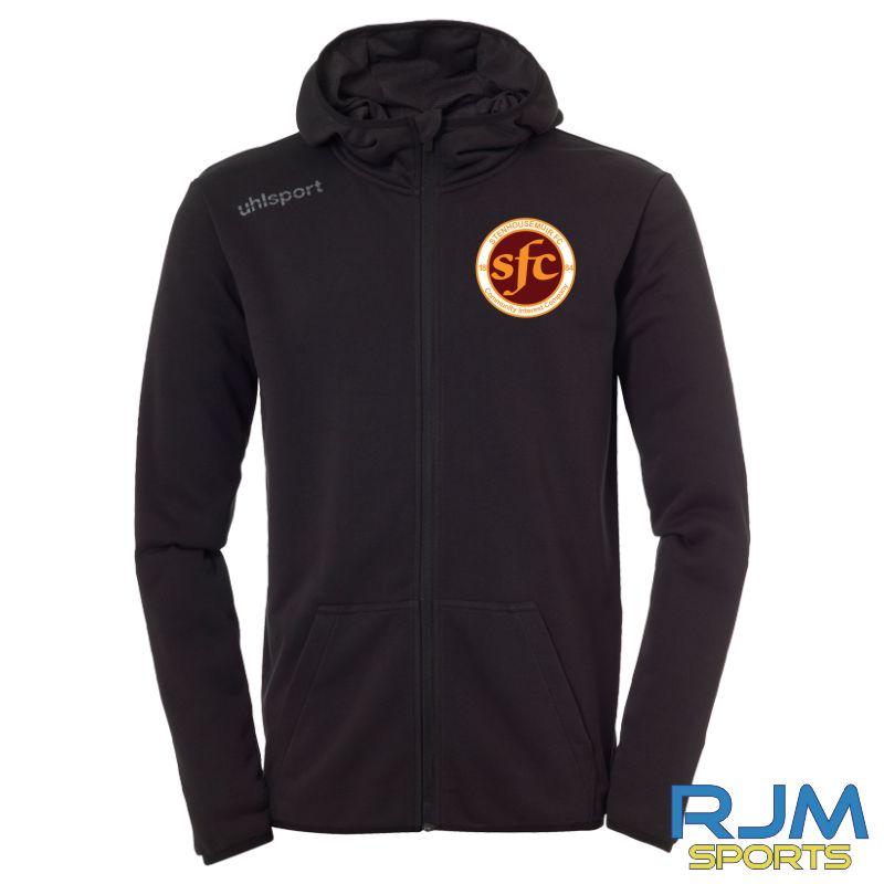 Stenhousemuir FC Uhlsport Essential Hood Jacket Black